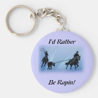 team ropers 201 keychain