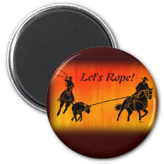 Team Ropers 202 2 Inch Round Magnet