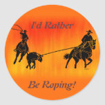 Team Ropers 202 Classic Round Sticker