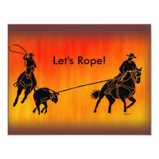 "Team Ropers 202 4.25"" X 5.5"" Invitation Card"