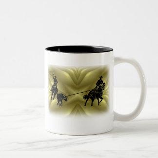 Team Ropers 203 Two-Tone Coffee Mug