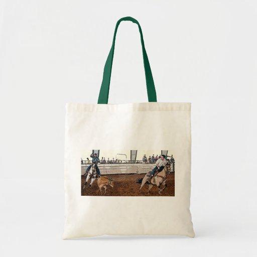 Team Ropers Budget Tote Bag