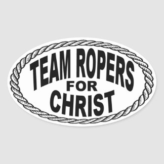 Team Ropers for Christ Euro Style Oval Sticker