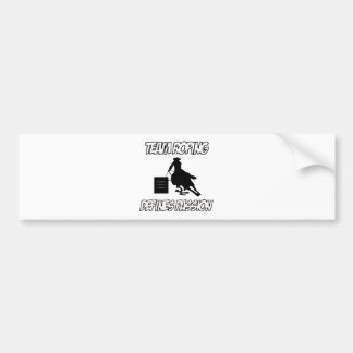 TEAM ROPING designs Bumper Sticker