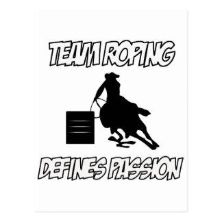 TEAM ROPING designs Postcard