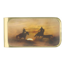 Team Roping Money Clip