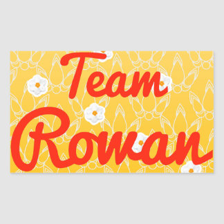 Team Rowan Rectangular Stickers