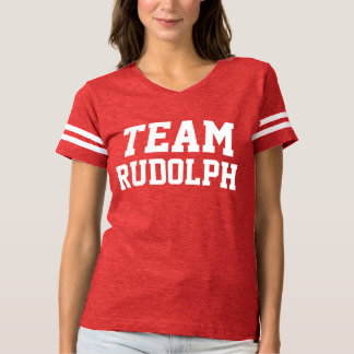 Team Rudolph | Christmas | Custom Name T-shirt