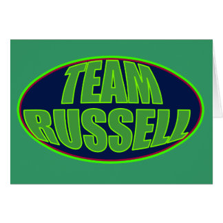 TEAM RUSSELL GREETING CARD