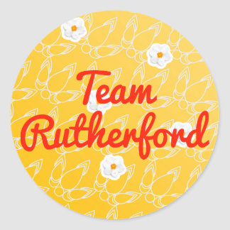 Team Rutherford Classic Round Sticker