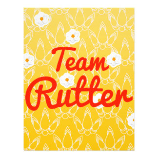 Team Rutter Personalized Flyer