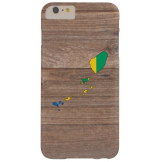 Team Saint Vincent and the Grenadines Flag Map on Barely There iPhone 6 Plus Case