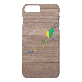 Team Saint Vincent and the Grenadines Flag Map on iPhone 7 Plus Case