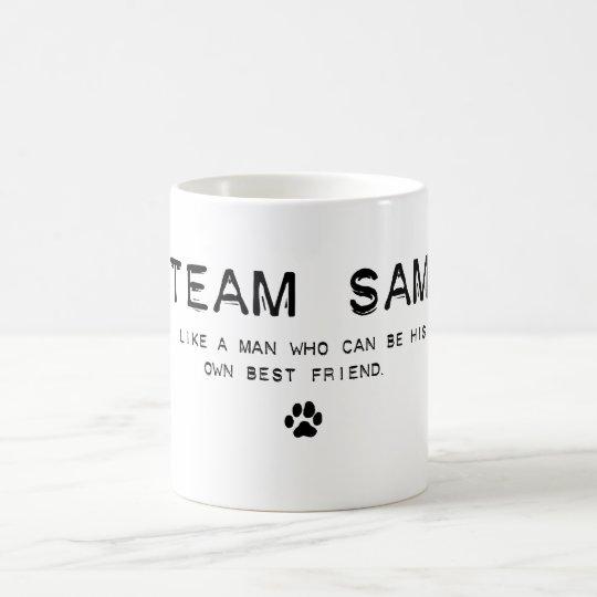 team sam coffee mug