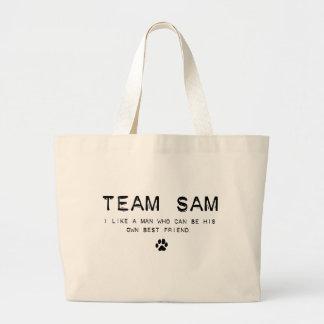 team sam large tote bag