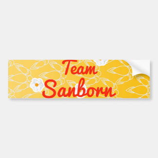 Team Sanborn Car Bumper Sticker