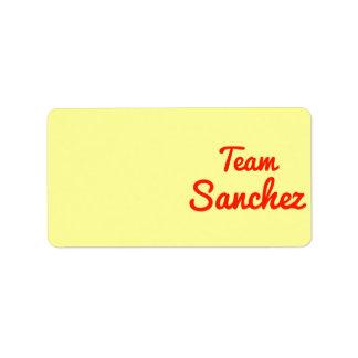 Team Sanchez Label