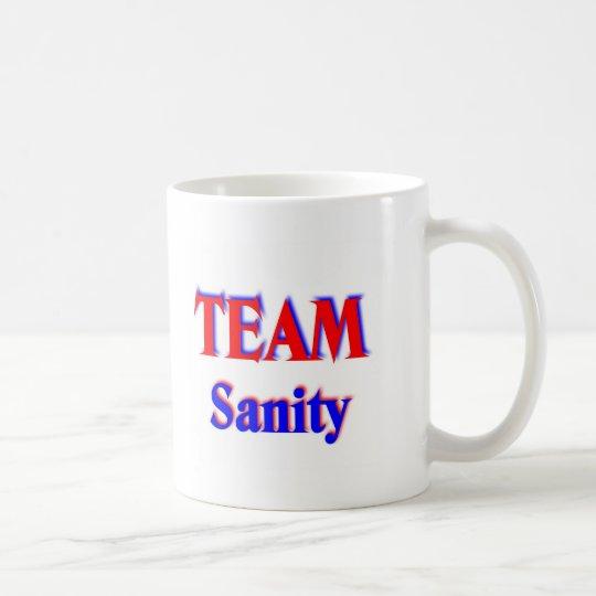 team sanity coffee mug