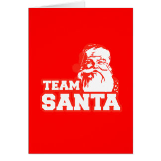 Team Santa Greeting Cards