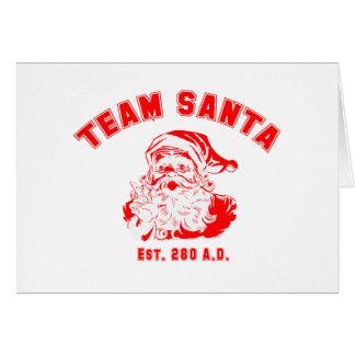 Team Santa Greeting Card