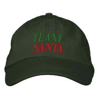 Team Santa Embroidered Baseball Hat