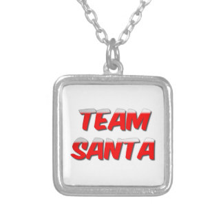 Team Santa Pendant Necklace