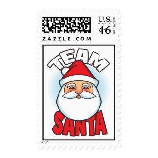 Team Santa Postage Stamp
