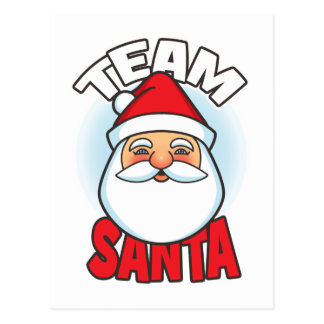 Team Santa Post Cards