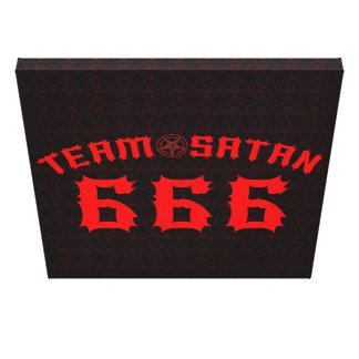 Team Satan 666 Canvas Print