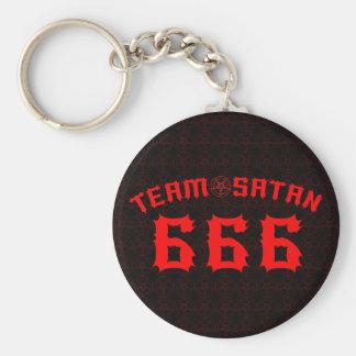 Team Satan 666 Llavero Redondo Tipo Pin