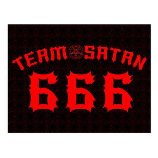 Team Satan 666 Postcard