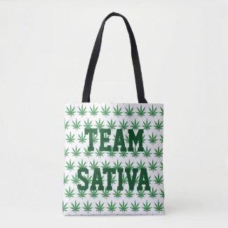 Team Sativa or Team Indica Pot Leaf Tote Bag