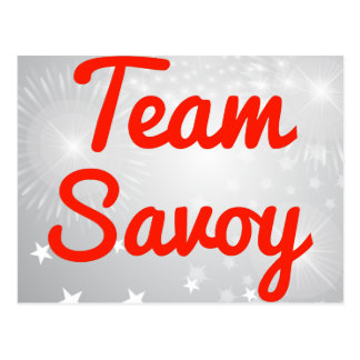 Team Savoy Post Card