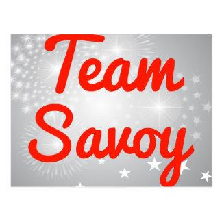 Team Savoy Post Cards