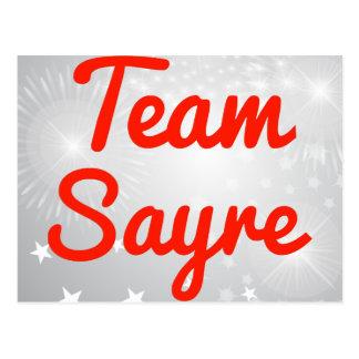 Team Sayre Postcard