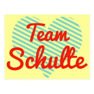 Team Schulte Postcard