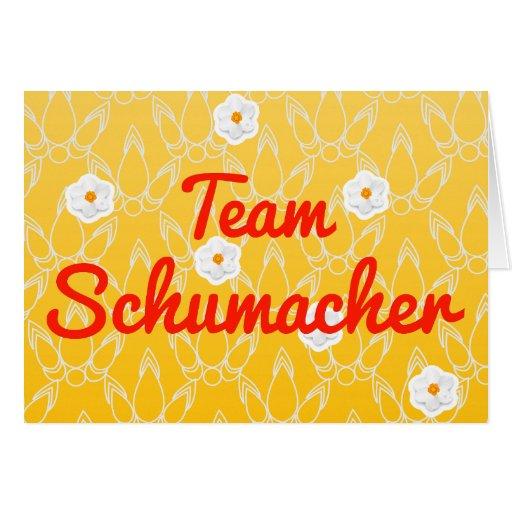 Team Schumacher Greeting Card