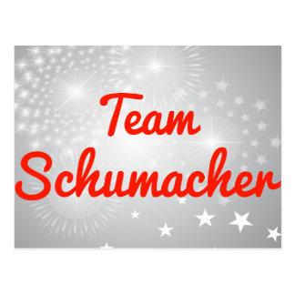 Team Schumacher Postcard