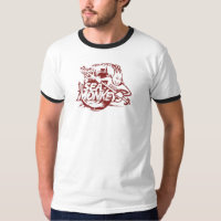 Team Sea Monkeys - distressed red T-Shirt