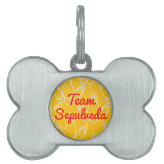 Team Sepulveda Pet Name Tag