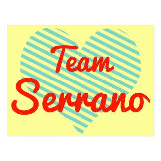 Team Serrano Postcards