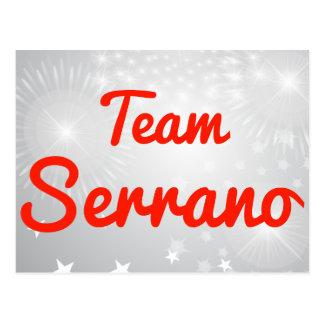 Team Serrano Postcard
