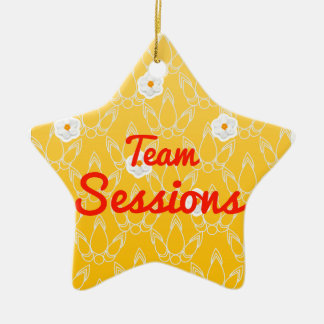 Team Sessions Double-Sided Star Ceramic Christmas Ornament