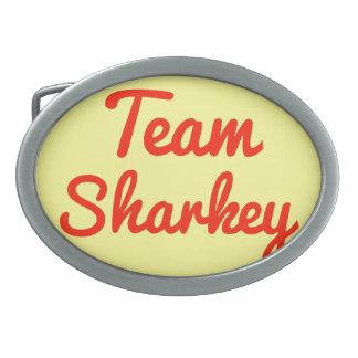 Team Sharkey Oval Belt Buckle