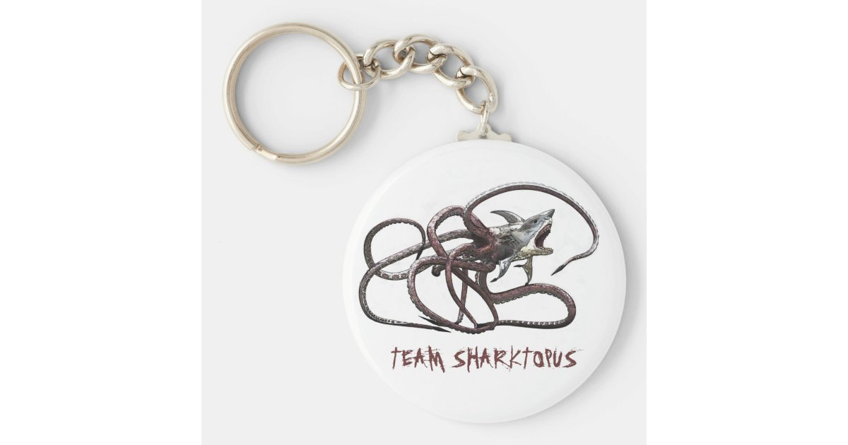 team sharktopus keychain zazzle. Black Bedroom Furniture Sets. Home Design Ideas
