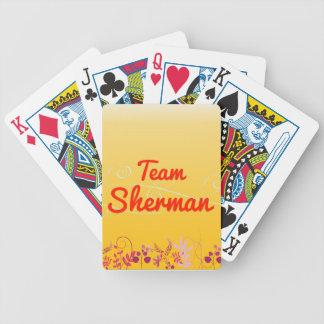 Team Sherman Bicycle Playing Cards