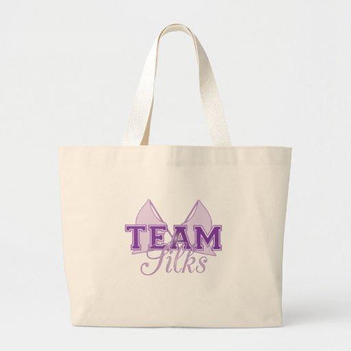 Team Silks Purple Canvas Bags