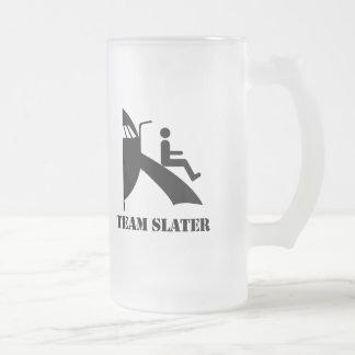 TEAM SLATER 16 OZ FROSTED GLASS BEER MUG