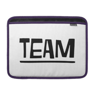 team sleeve for MacBook air