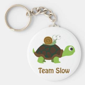 Team Slow Basic Round Button Keychain
